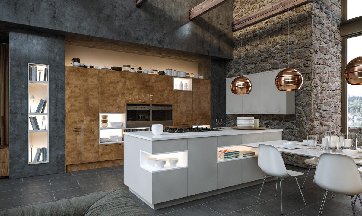 zurfiz-ultragloss-copperleaf-supermatt-dust-grey-kitchen